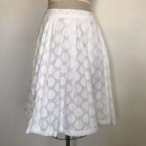 Calvin Klein 10 white cotton skirt